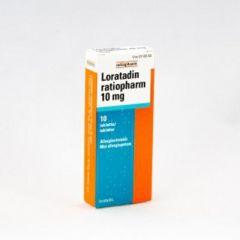 LORATADIN RATIOPHARM 10 mg tabl 10 fol